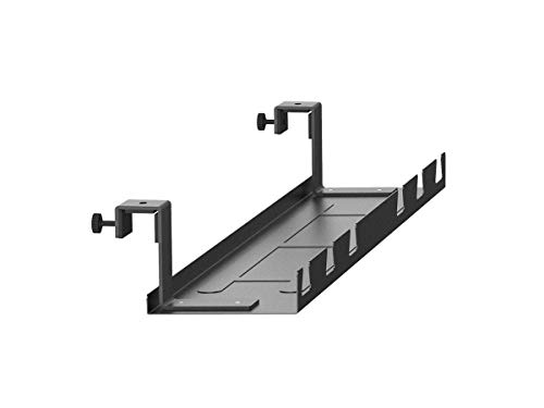 Monoprice Cable Tray Organizer - Black | Under Desk Cord Management, Ideal for Work Computer Tables, Home and Office Sit-Stand Desks - Workstream Collection