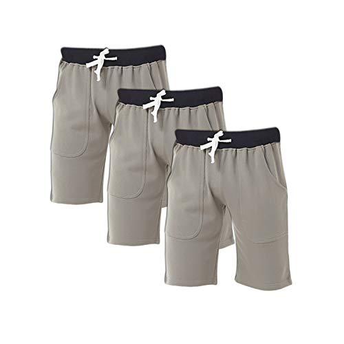 - Godsen Men's Cotton Leisure Sleep Sports Shorts 【Three Pieces】 (XL, Gray)