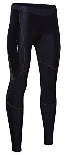 Santic Women's 4D Padded Cycling Tights Long Bicycle Pants (Large, Black)