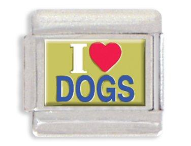 I Love Dogs Italian Charm...