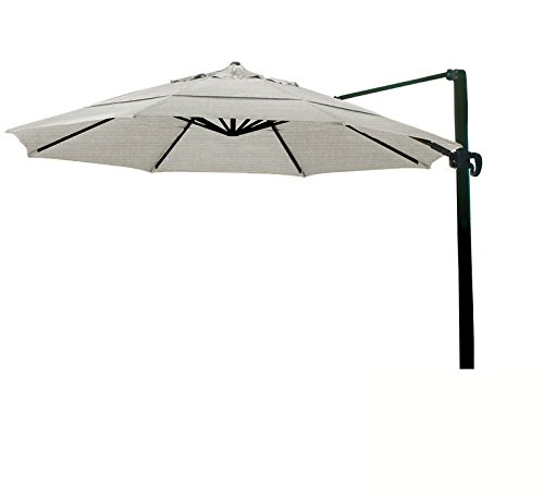 (Ben&Jonah Eclipse Collection 11' CantileverUmbrella CrankLift MultiPositon Tilt Bronze/Sunbrella/Spectrum Dove)