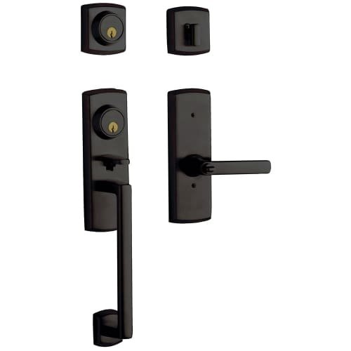 Keyed Entry Set Baldwin Hardware (Baldwin Hardware 85385.102.2LH Handle Set)