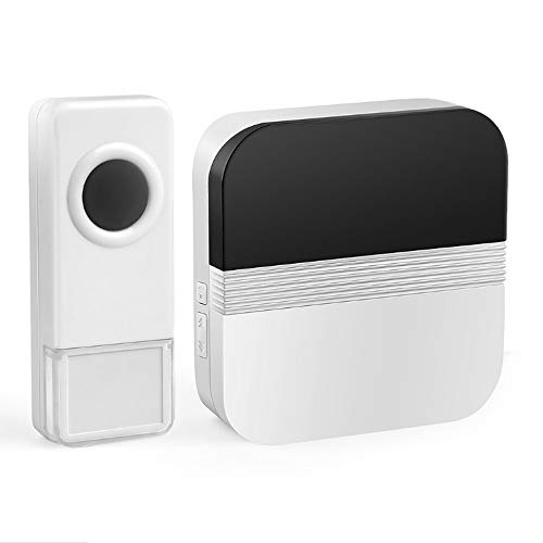 DLINMEI Waterproof Wireless Doorbell With 1 Button And 1 Plug-in Receiver 1000 Feet Of Operating Range 4 Adjustable Volume And 52 Bells by DLINMEI