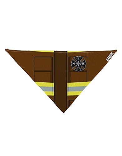 TooLoud Firefighter Brown AOP Printed White Dog Bandana 26