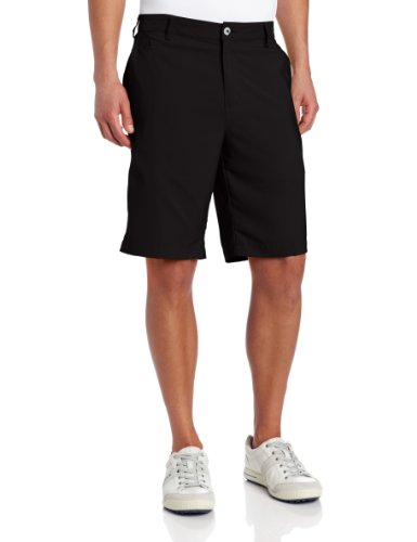 adidas Golf Men's Climalite 3-Stripes Tech Shorts, 30-Inch, Black (Adidas Golf Mens Climalite 3 Stripes Pant)