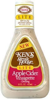 (Kens Steak House Lite Apple Cider Vinaigrette Dressing, 16 Ounce (Pack of 3))