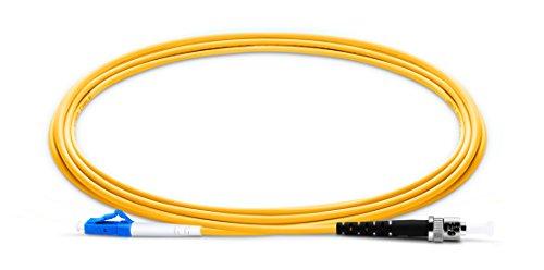LC UPC to ST UPC Simplex PVC(OFNR) 9/125 Single Mode Fiber Patch Cable (3m 3.0mm)