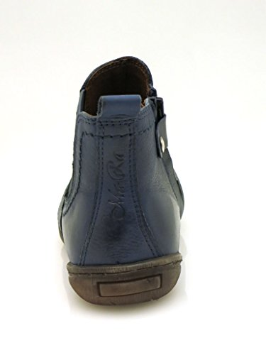 Bottes Chaussures Boots Cuir Ma ra En Bleu Chelsea Bottines xBIfP1