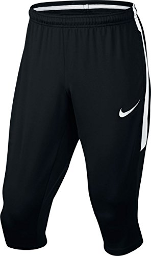 Nike Mens Dry Squad 3/4 Pants Black/White, Large