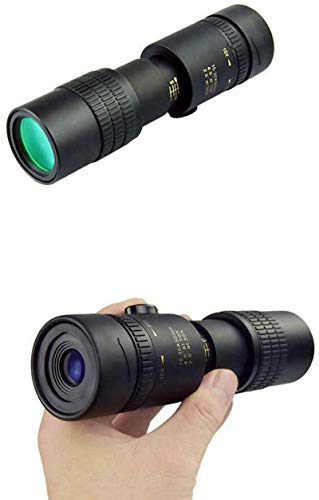 Super Telephoto Zoom Monoculars - 4K 10-300X40Mm Waterproof and Anti-Fog Night Vision Monoculars, Equipped with Smartphone Holder and Tripod, Used for Bird Watching,Hunting,Camping,Traveling (Black)