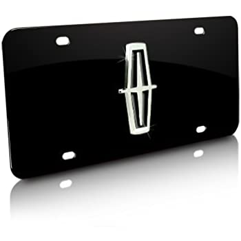 Lincoln 3D Logo Chrome Stainless Steel License Plate Universal Mounting Slots