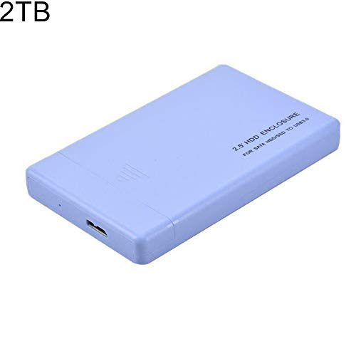 Price comparison product image wewa98698 Portable 2.5inch HDD USB 3.0 500GB 1TB 2TB Mechanical Mobile Hard Disk Drive - Blue 2TB