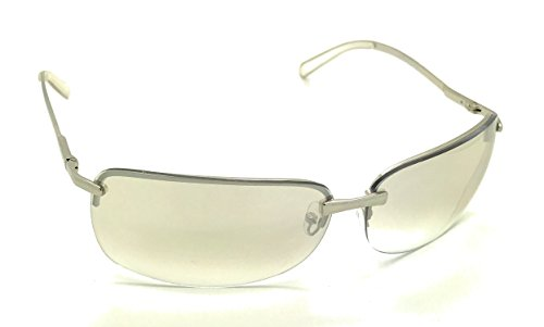 CLEAR LENS METAL HALF FRAME FASHION SUNGLASSES MENS WOMEN'S SHADES UV400 PROTECTION WITH MICROFIBER POUCH (Silver, - Sunglass Clear