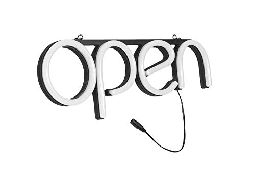 LED Neon Open Sign Light. Perfect to Advertise Storefront, Business, Office, Shop and Restaurant. Ultra Bright White Designer Color. Custom Built, Elegant Window Display by LOSTRONAUT (Image #2)