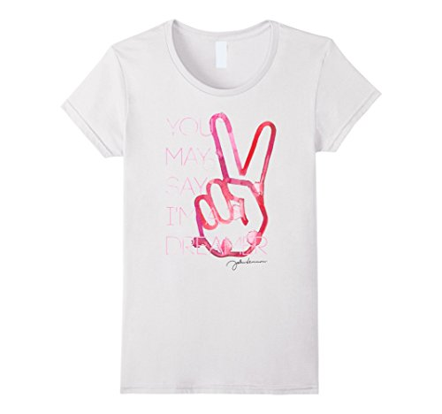 Womens John Lennon - Dreamer T-Shirt Large White