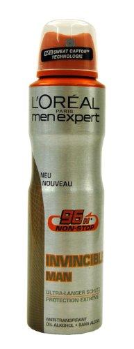 L`Oréal Men Expert Invincible Man Ultra-Langer Schutz Deo Spray, 150ml