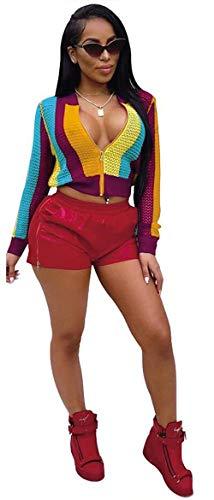 Semplice Gelb Autunno Glamorous Fit Fashion Allentato Giaccone Outerwear Con Cerniera Manica Slim Cappotto Eleganti Primaverile Colors Giacca Corto Lunga Rainbow Donna aw6OxRqZ