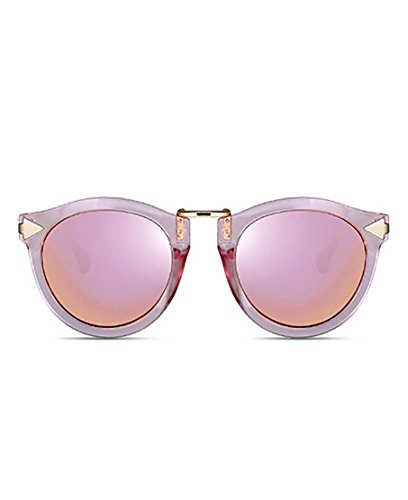 GAMT Metal Frames Brand Design Fashion Cat Eye Round Polarized Sunglasses for Women (PINK, PINK)