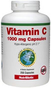 UPC 728177002718, Nutribiotic Vitamin C Caps, 1000 Mg, 250 Count