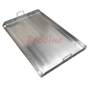 HEAVY DUTY 35'' Wide Stainless Steel Flat Top TRIPLE Griddle Grill Plancha Cook Fry Pan Large