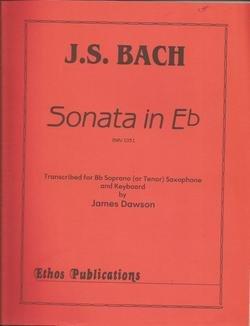 - JS Bach Sonata in Eb Bb Soprano or Tenor Saxophone & Keyboard