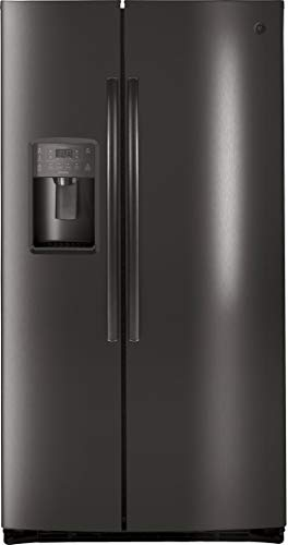 GE Profile PSE25KBLTS 36 Inch Freestanding Side by Side Refrigerator with 25.3 cu. ft. Capacity in Black Stainless Steel