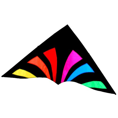 Breeze Easy to Fly Kites, Colorful for Adults Outdoors Portable Travel Kites Triangle Smooth Park Kites, 180 90 cm