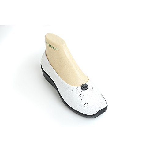 Arcopedico 4231 L14 Vrouwen Flats Schoenen Wit Sparkle