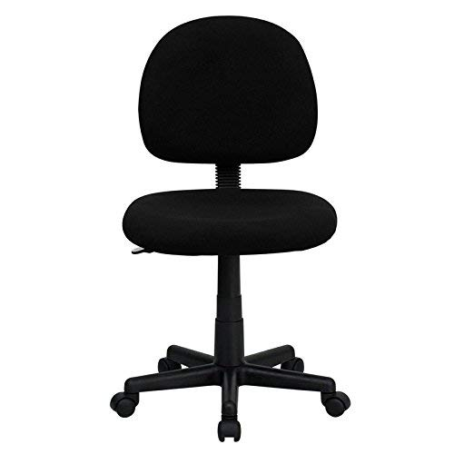 Flash Furniture Mid-Back Black Fabric Swivel Task Chair