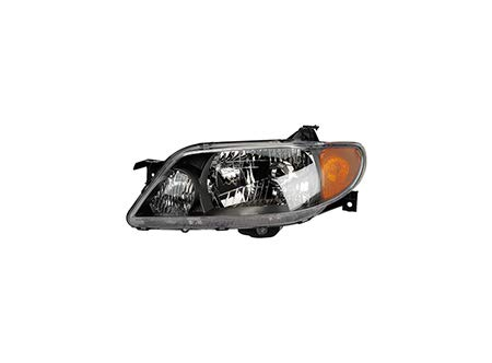 Fits 2001-2003 Mazda Protege Head Light Driver Side MA2502120 4dr For Sedan; w/metal coat bezel - replaces BL8E-51-OLOD