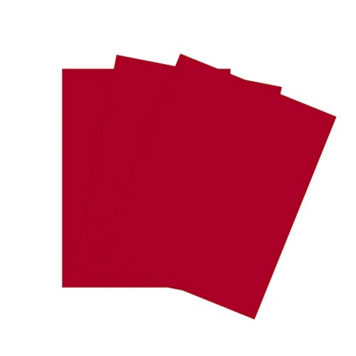"""Cardstock Paper for Arts Crafts and Scrapbooking by The Stamps of Life - Cranberry Red 8.5"""" x 11"""" 24 Sheets"""