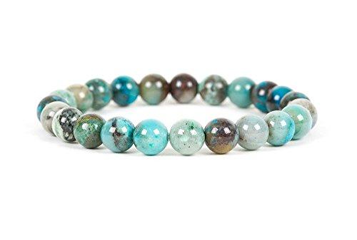 Azurite Malachite Bracelet, Genuine 8mm Azurite Malachite Gemstone