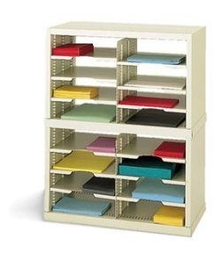 Charnstrom 25-Inch W 16 Pockets Legal Depth Open-Back Double Sorter (P622Y) by Charnstrom