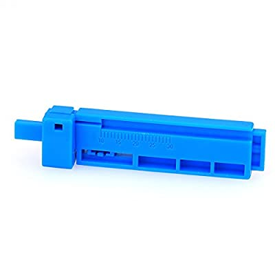 Blue 2 in 1 Ftth Fiber Tools Fiber Optic Fix-Length Fiber Coating Guide Bar Wire Stripper for Fiber Optical Connector