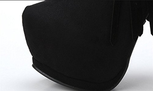 velvet female Rivets boots 38 tassel women heeled fashion boots Martin fine ZCH shoes pointed boots high female w8RcqXv