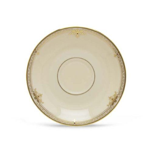 Lenox Republic Gold Banded Ivory China Saucer by Lenox (China Gold Ivory Banded Saucer)
