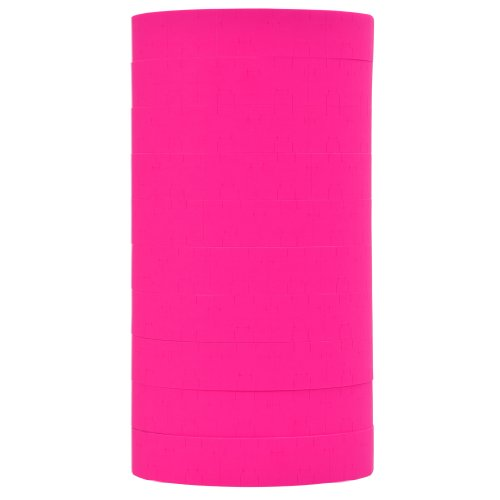 (Fluorescent Pink Pricing Labels to fit Monarch 1115 Pricers. 10 Rolls with 1 Free Ink Roller.)