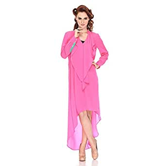 Polka Dot Cat Pink Polyester Casual Dress For Women