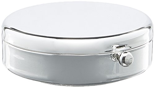 (Kingsley Round Pill Box - Silver Plated)