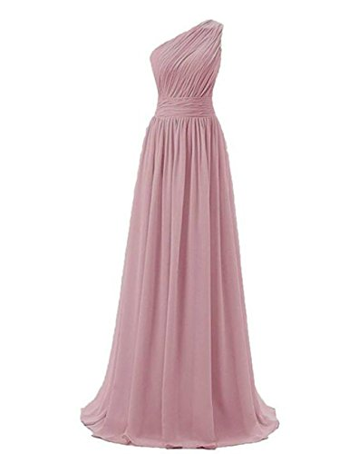 One Dusty Evening Formal rose Gowns Dress Prom Shoulder Dresses Party Maxi Cdress Chiffon Bridesmaid Long qpFFZI