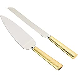 "Weddingstar NCK5G flatware-cake-servers, 11"" Cake Server & 13"" Cake Knife, Gold"