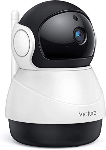 [2020 Upgraded] Victure 1080P Indoor Camera, Home Wi-Fi Security Camera, Motion Detection, Motion Tracking, Night Vision, Two-Way Audio, Cloud Storage, SD Card Storage, APP Remote Control, Pan/Tilt