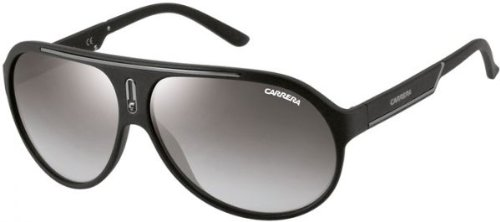 Carrera CA57S Aviator Sunglasses, Matte Black & Gray Silver, 64 - Authentic Carrera Sunglasses