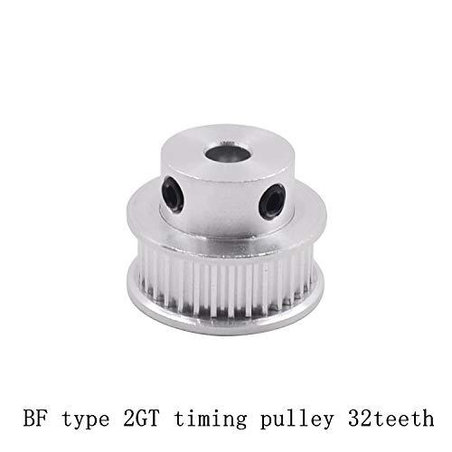 Ochoos 32 Teeth GT2 Timing Pulley Bore 5mm 6mm 6.35mm 8mm 10mm for GT2 Timing Belt Used in Linear 2GT Pulley 32Teeth 32T - (Bore Diameter: 8mm, Width: 6mm)