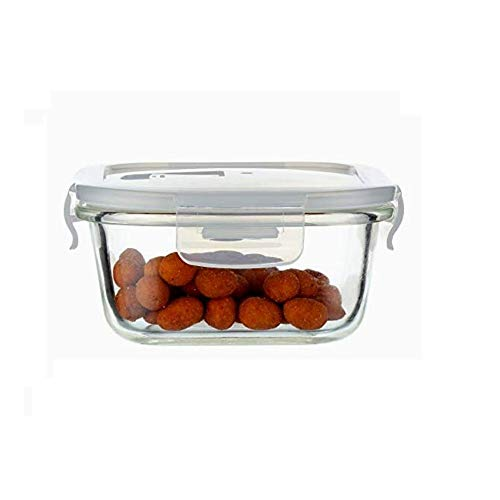 Femora Borosilicate Square Glass Food Storage Container with Air Vent Lid  800 ml,
