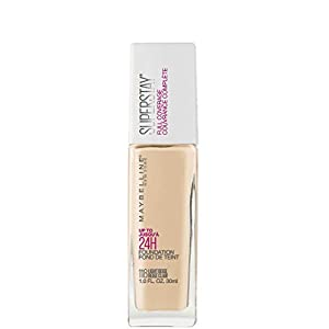 Maybelline New York Super Stay Full Coverage Liquid Foundation Makeup, Light Beige, 1 Fl Oz