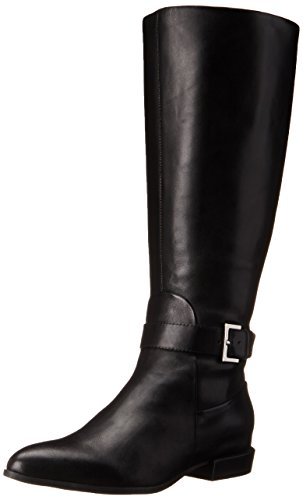 Women's West Nine Boot Black Knee High Wide Diablo Leather Calf q5drdTw