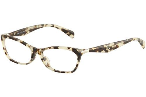 Prada PR15PVA UAO1O1 Eyeglasses Spotted Opal Brown ()