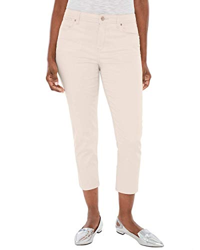 Chico's Women's Sateen Slim Crops- 24 Inch Inseam Size 4 S (0) Natural - 4/0 Natural