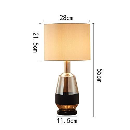 Lámparas de mesa de luces LED de vidrio marrón nórdico para sala ...